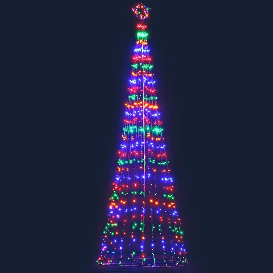 Jingle Jollys 5M LED Christmas Tree Optic Fibre Lights 750pc LED Colour