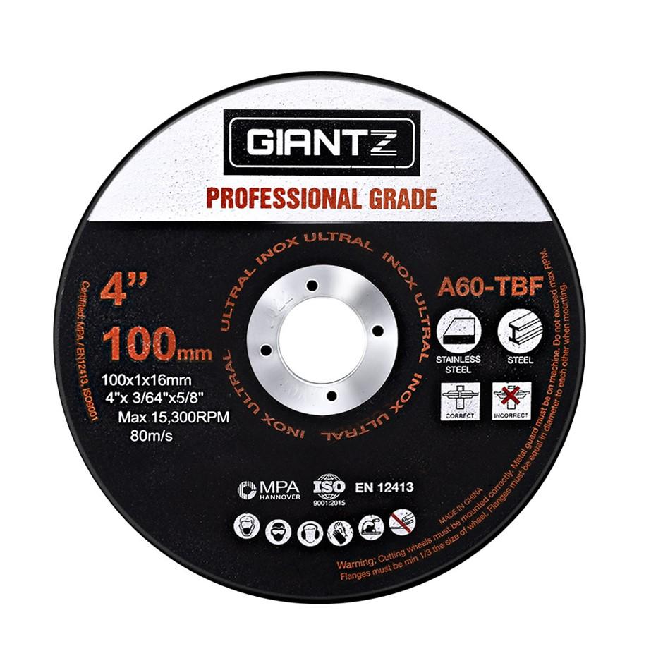 "Giantz 100 x 4"" Cutting Disc 100mm Metal Cut Off Wheel Angle Grinder Steel"