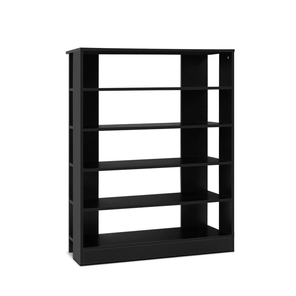 Artiss Shoe Cabinet Shoes Organiser Storage Rack 30 Pairs Black Shelf
