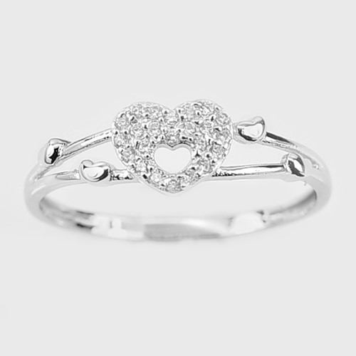 Gorgeous Solid Sterling Silver Heart Ring