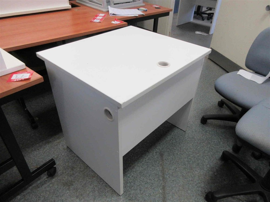2x Single Computer Desk With Electrical / Data Connection Board