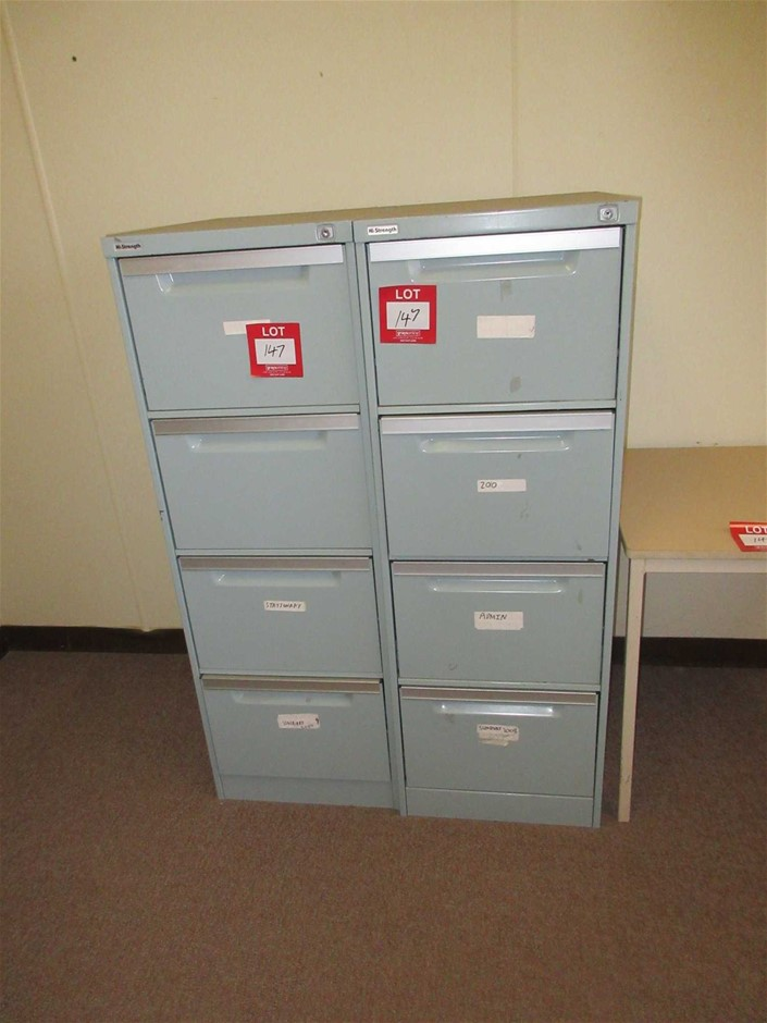 2 x 4 Drawer Filing Cabinets