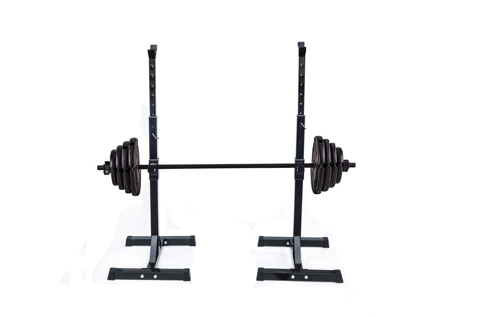 Pair of Adjustable Rack Sturdy Steel Squat Barbell Bench Press Stands