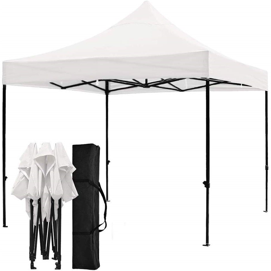 3x3m Easy Pop up Canopy Tent 420D Waterproof UV-Treated Cover