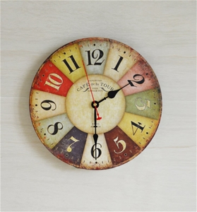 Large Colourful Wall Clock Kitchen Offic
