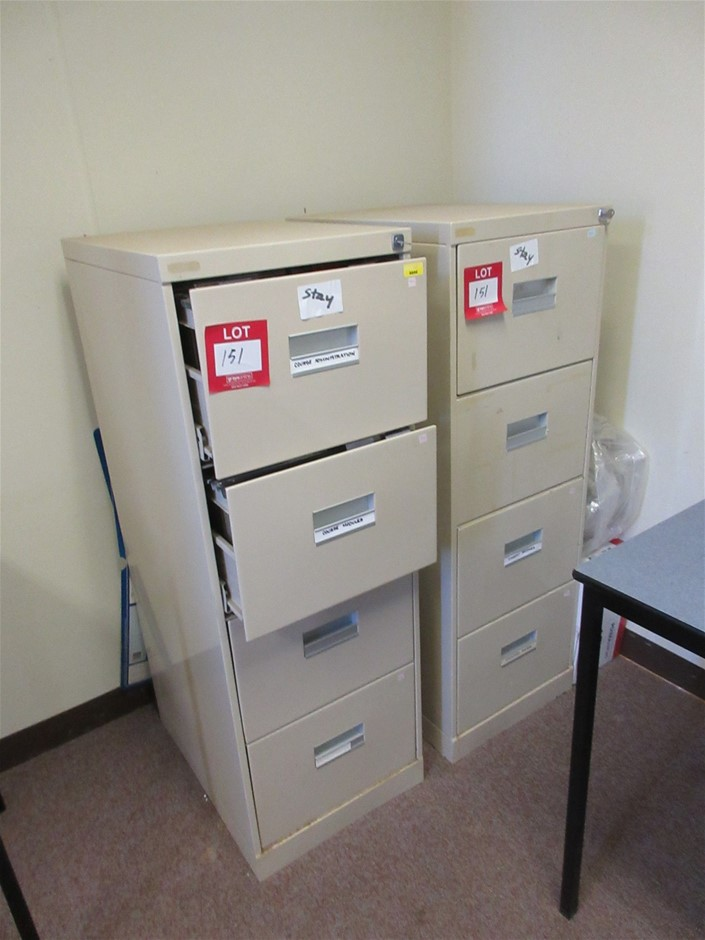 2x 4 Drawer Filing Cabinet