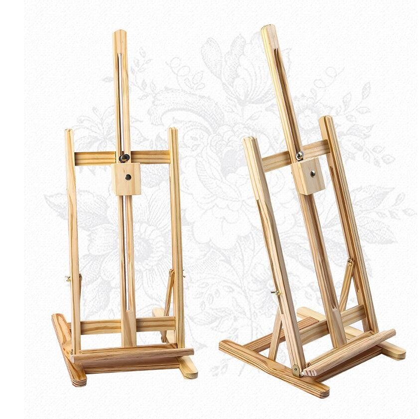 Tabletop Easel Wood Studio H-Frame Art Display Painting Tripod Stand