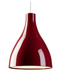 Exenia lighting Willy Suspension. D+28 3000K Vern Rosso Lacca Lucido
