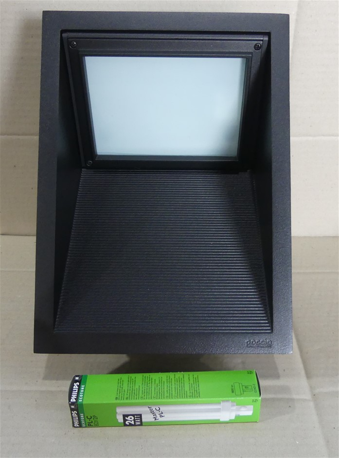 Compatta 26W Recessed Outdoor Wall Light Black - GC5022-BL