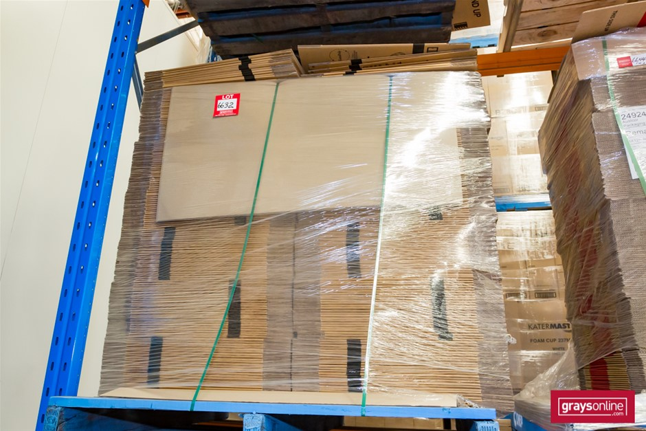 Pallet of Cardboard Cartons, Flat Packed Auction (6632 ...