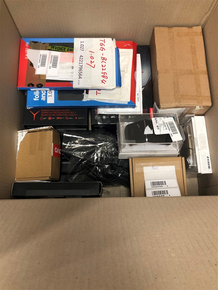 Box of USED/FAULTY Lenovo Peripherals