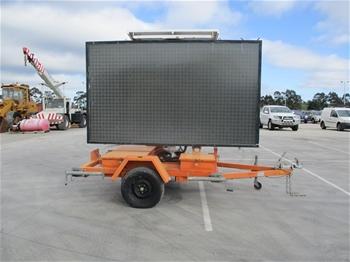Solar Sign Board Trailer