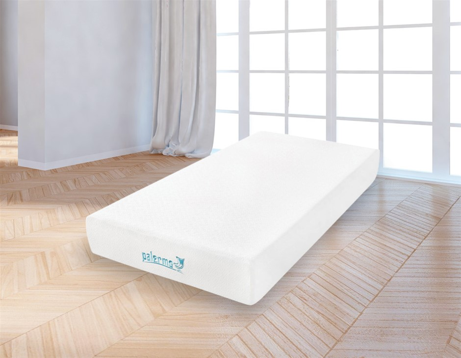 Palermo King Single 25cm Gel Memory Foam Mattress - Dual-Layered