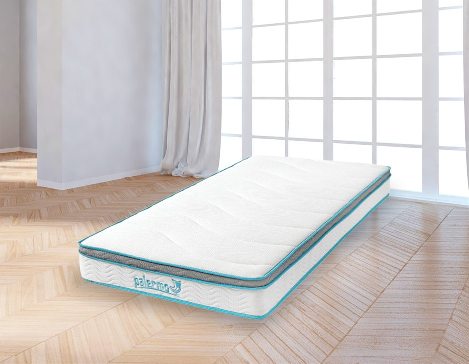 Palermo King Single 20cm Memory Foam and Innerspring Hybrid Mattress