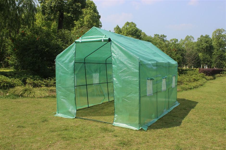 3.5X2X2M Greenhouse Walk In Tunnel Plant Garden Storage Grow Sheds