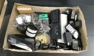 3 x Boxes of Assorted Light And Camera A