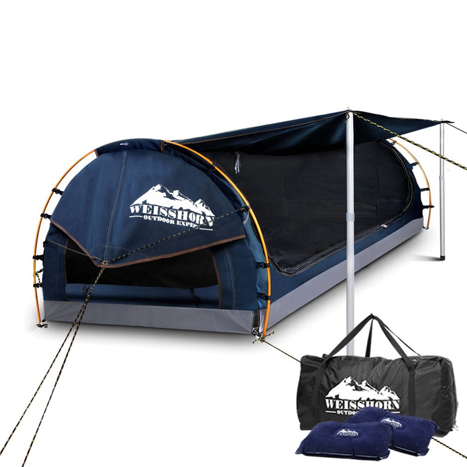 Weisshorn Double Size Dome Canvas Tent - Dark Blue