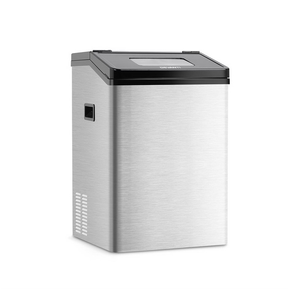 Devanti Commercial 8KG Ice Maker - Stainless Steel