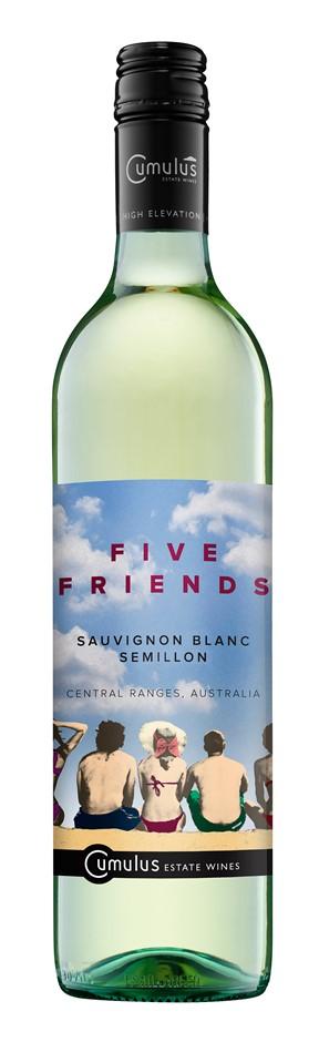 Five Friends Sauvignon Blanc Semillon 2017 (12 x 750mL) Central Ranges, NSW