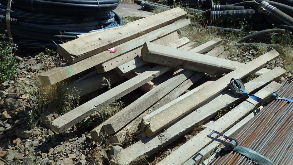 Assorted Concrete Fencing Posts