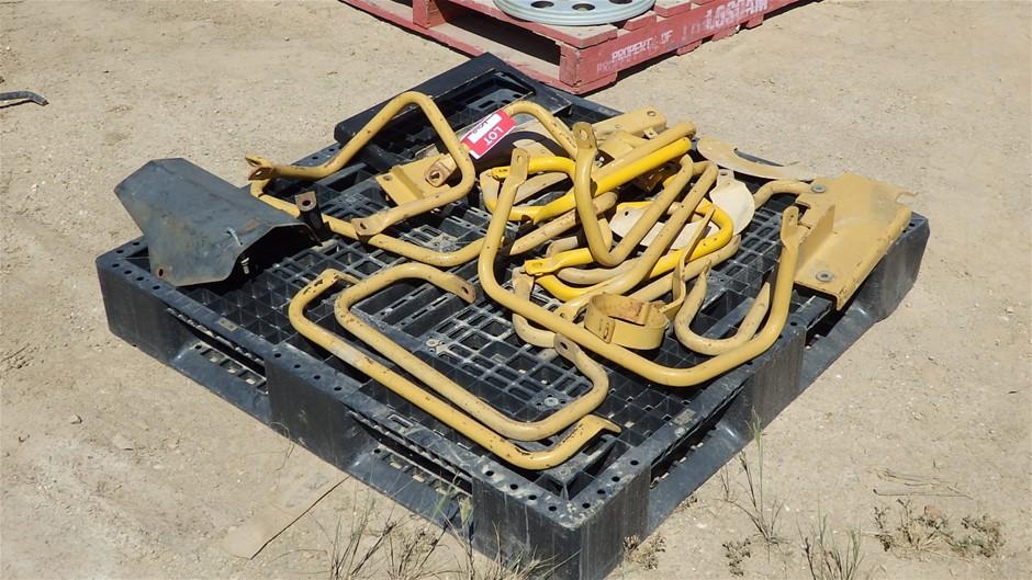 Caterpillar Dozer Grab Rails & Battery Clamp