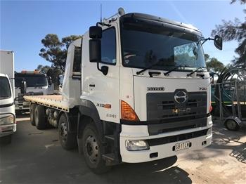 2015 Complianced Hino FY 700 8 x 4 Twin Steer Tilt Tray Truck