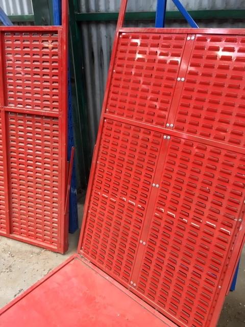 2 x Adjustable Steel Shelf Unit