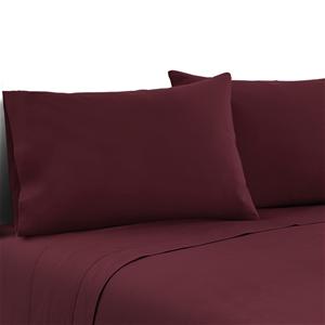 Giselle Bedding Double Burgundy 4pcs Bed