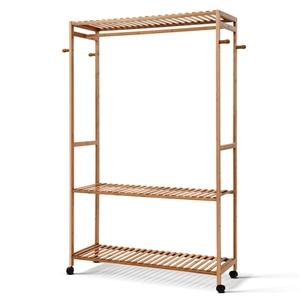 Artiss Bamboo Rack Coat Stand Garment Ha