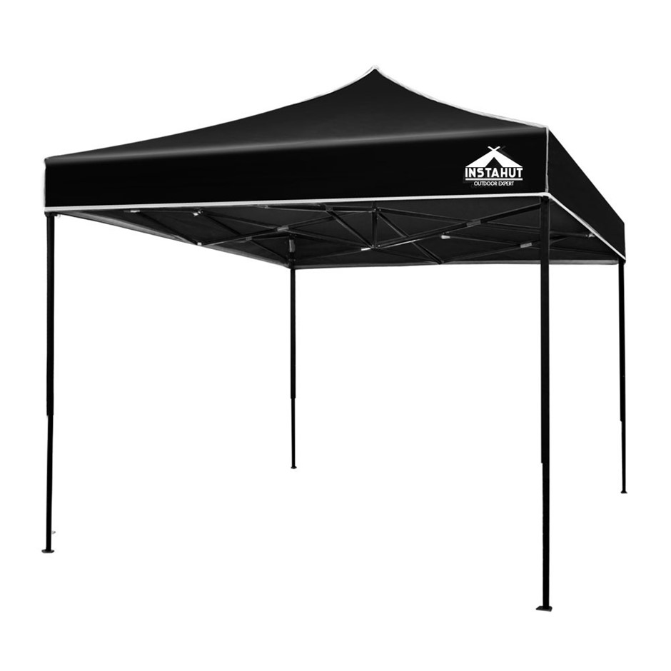 Instahut Gazebo 3x3 Pop Up Marquee Replacement Roof Outdoor Wedding Black
