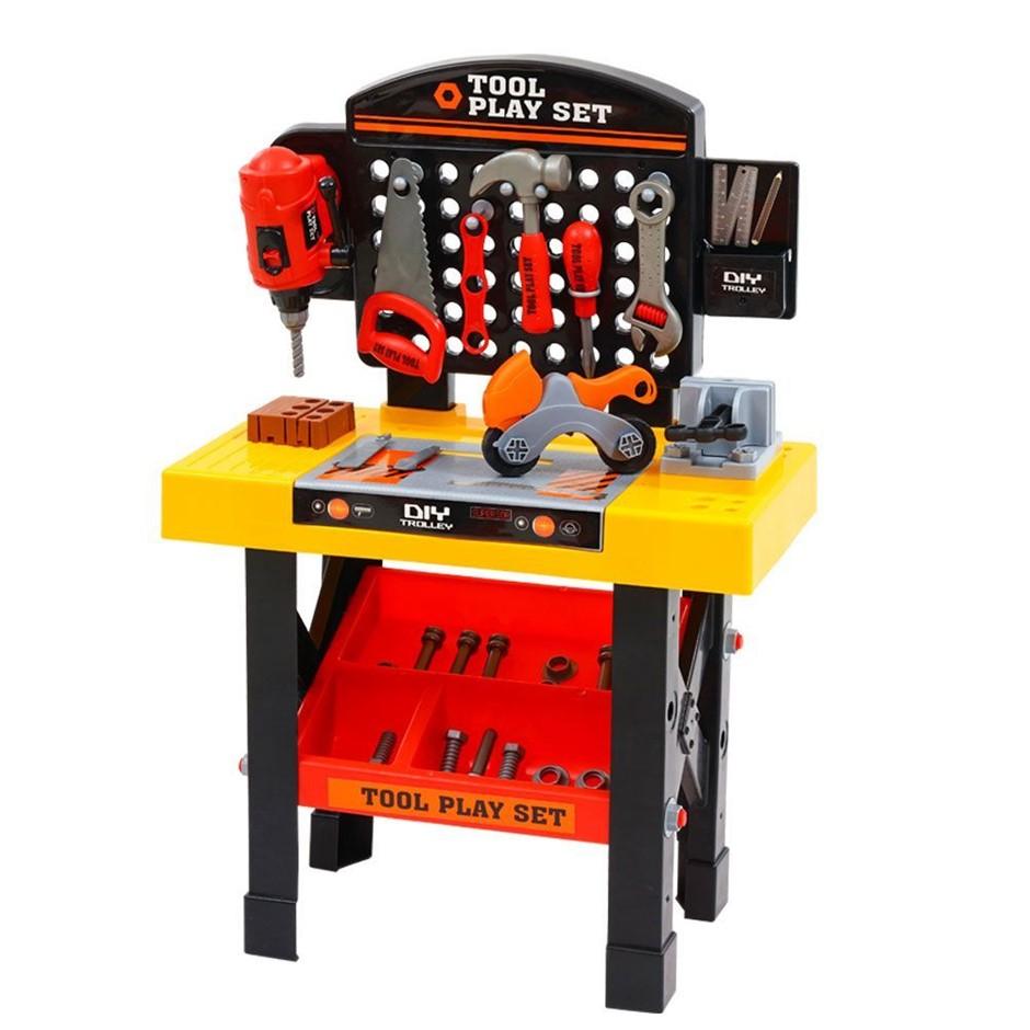 Keezi Kids Pretend Play Set Workbench Tools 54pcs Builder Work Childrens