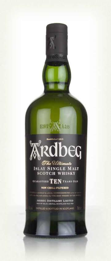 Ardbeg Ten Yr Old Single Malt Scotch (1x700mL). Scotland