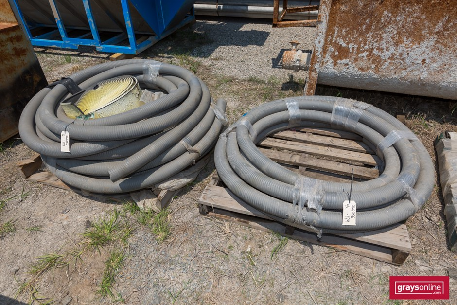 Coils of Pump Hosing and Expansion Joint Foam Hose is Grey Colo