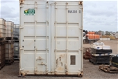 Unreserved Shipping Containers, Machine Components & Civil