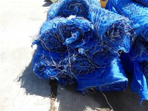 Pallet containing part rolls Shade cloth