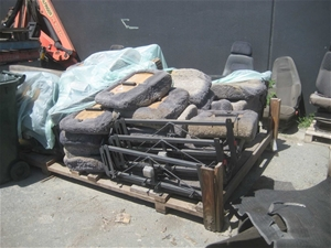 Approx 30 x Bus Seats with Steel Frames