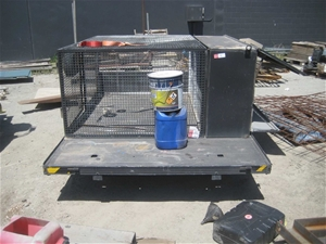 Ute Canopy with Tool Box and Cage