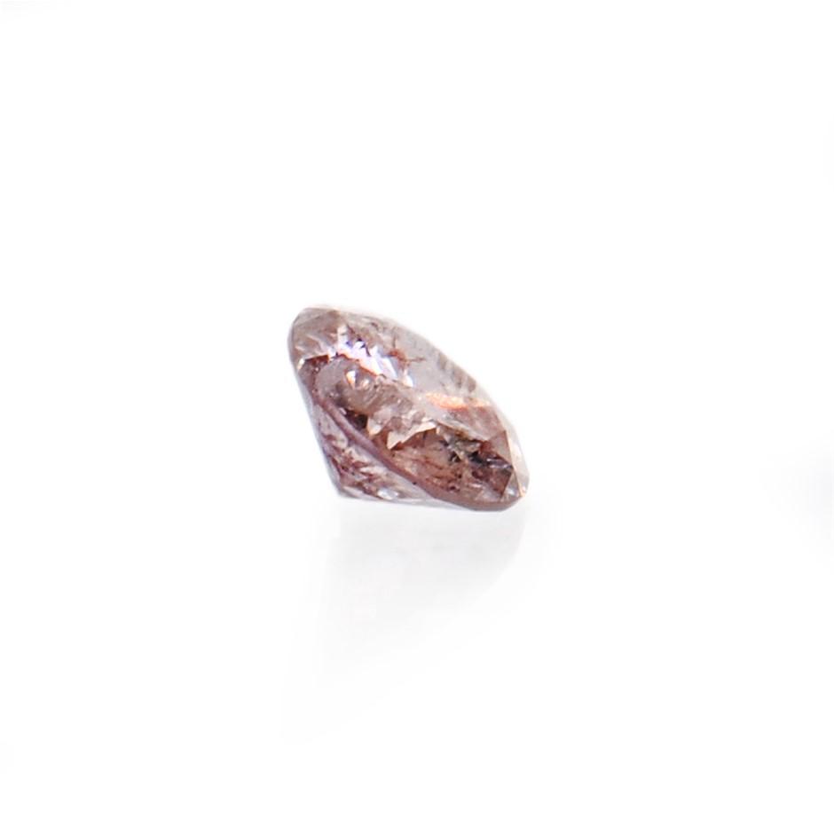 0.04ct Light pink diamond