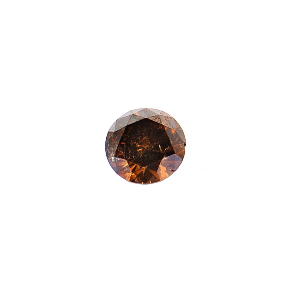 0.08ct Cognac diamond