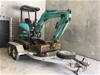 2012 Rubber Tracked Excavator with Plant Trailer