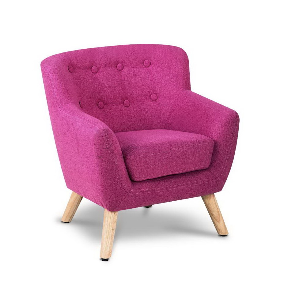 Keezi Kids Sofa Armchair Fabric Furniture Lorraine French Couch Pink
