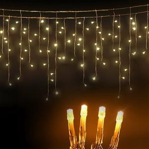 Christmas Icicle Lights 20M Warm - 500 L