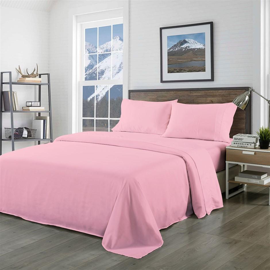 Royal Comfort Bamboo Blended Sheet Set Blush - King