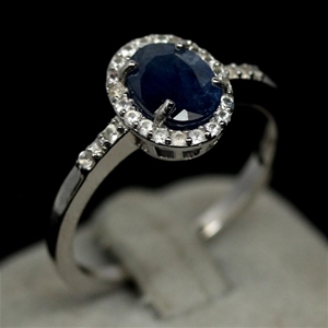 Gorgeous Genuine Intense Blue Sapphire R