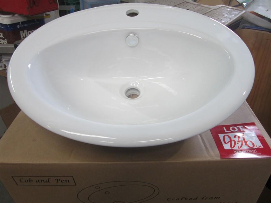 Cobb & Co Oval Ceramic Vanity Basin.