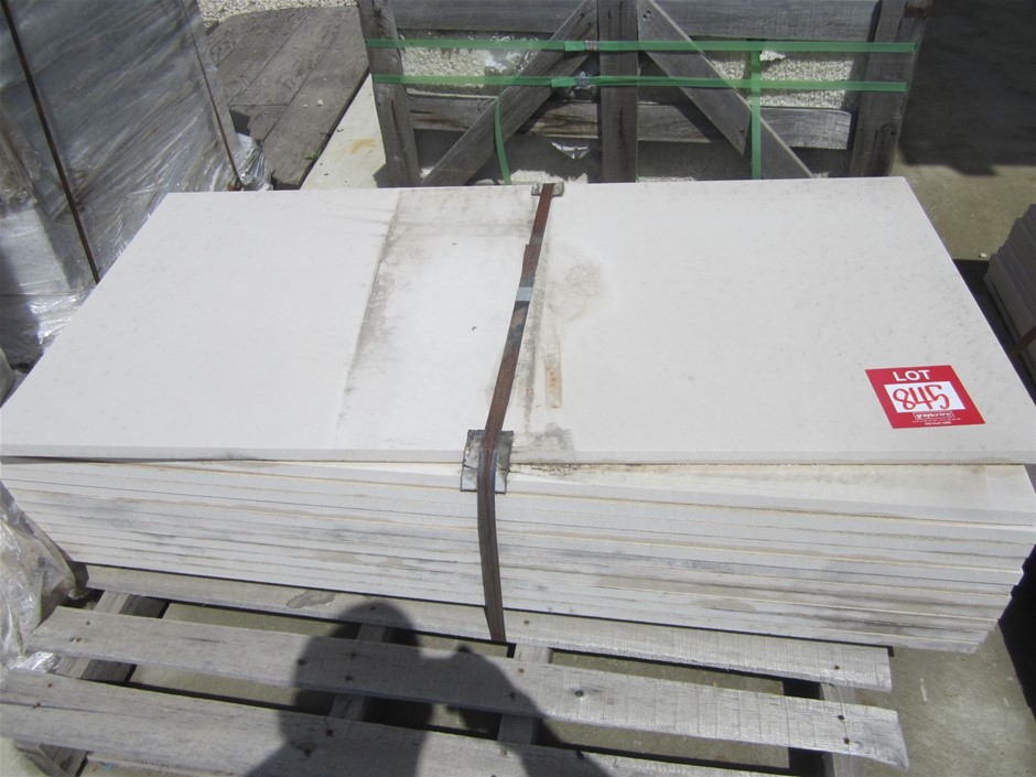 Pallet of 12 large, textured non slip granite pavers. 1200mm x 600mm x 20mm