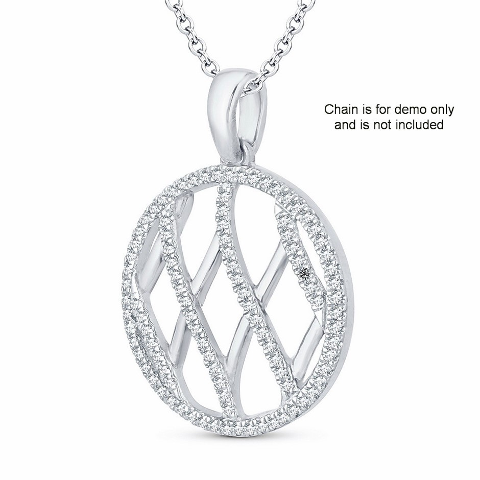 9ct White Gold, 0.15ct Diamond Pendant