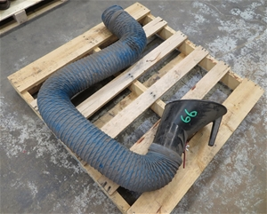 Fume extractor hose and hood