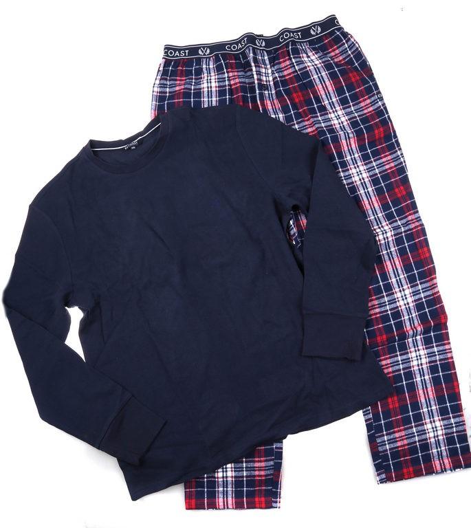 COAST CLOTHING CO Men`s ``Hand on Deck`` Waffle Flannel Sleepwear Set, Size
