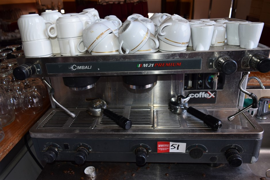 """""""La Cimbali"""" Two Group Espresso Coffee Machine with Cups"""